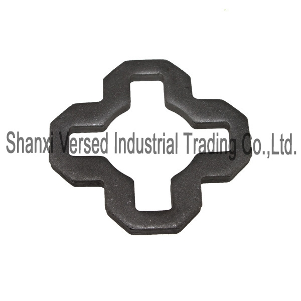 Cross lock scaffold round plate