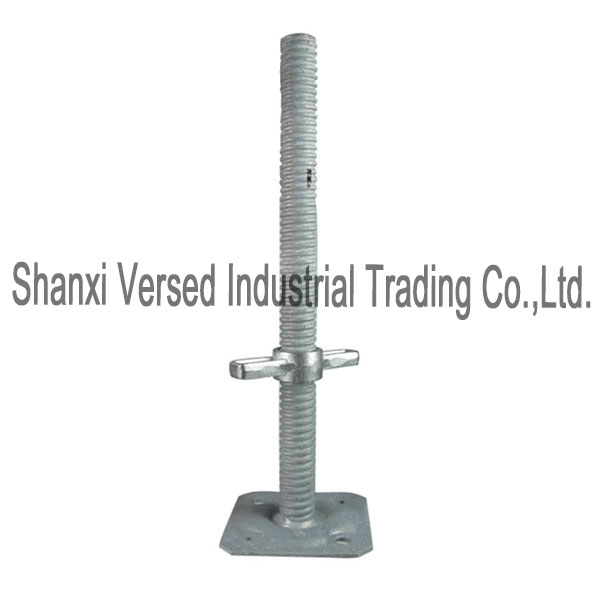 Scaffolding swivel screw jack with base plate