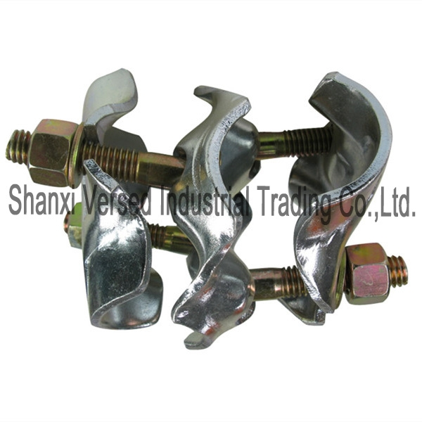 Scaffolding pressed movable double fixed coupler