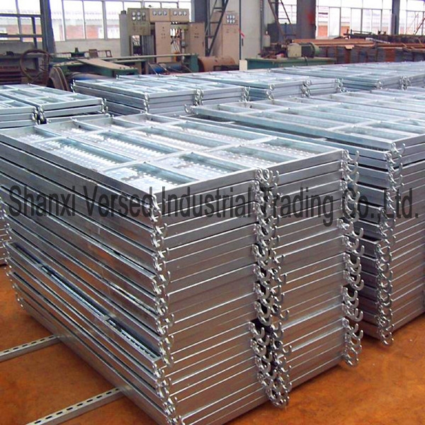 Galvanized steel scaffold deck boards