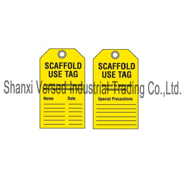 Scaffold safety tag
