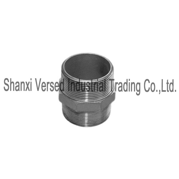 Stainless steel tube fitting hex nipple