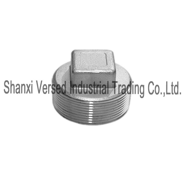 Forging casting pipe fittings square pipe plug