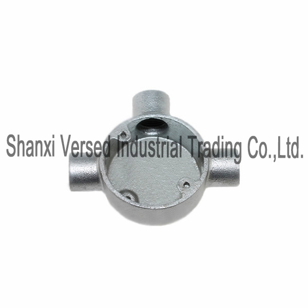 Conduit circular box galvanised tee
