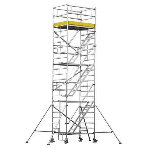 Mobile aluminum alloy scaffolding tower