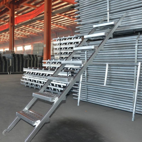 Steel scaffolding ladder