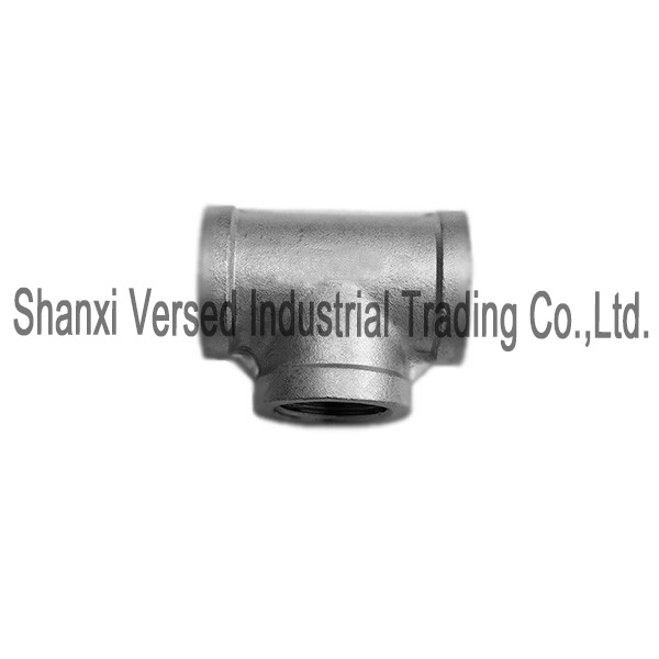Casted fitting socket weld tee