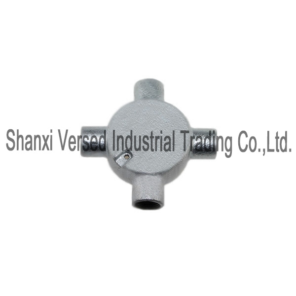 Conduit fittings 4 Way Intersection Box